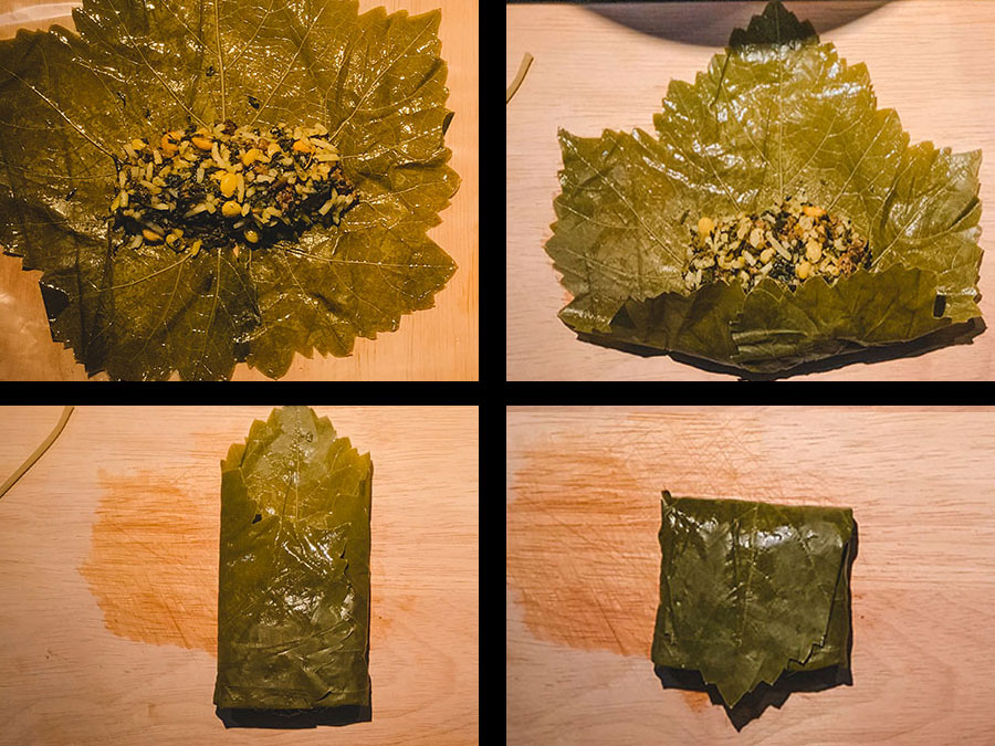 how to wrap dolmeh barg-e mo